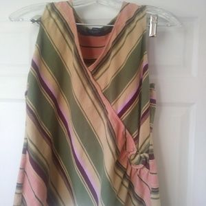 CHAPS sleeveless Striped Top